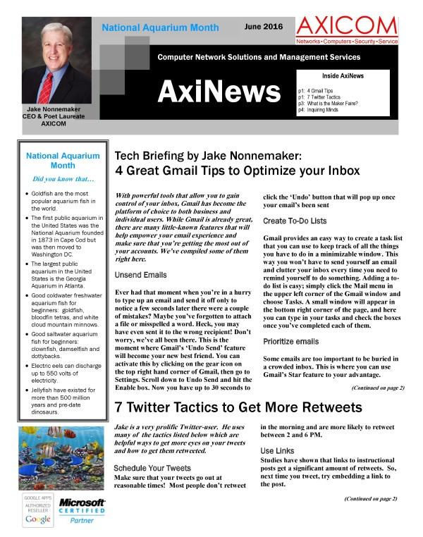 Newsletter Archive June 2016