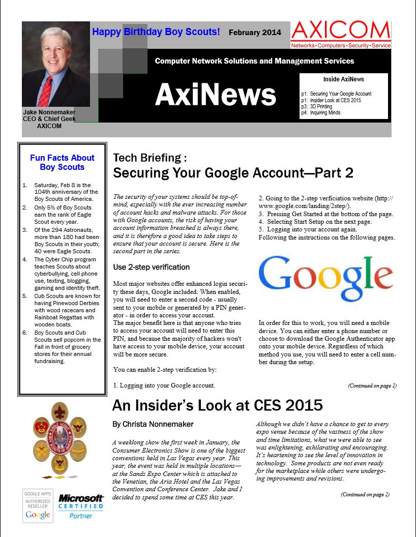 Newsletter Archive February 2015