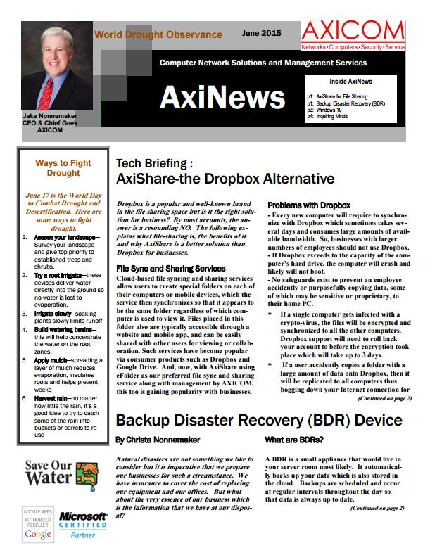 Newsletter Archive June 2015