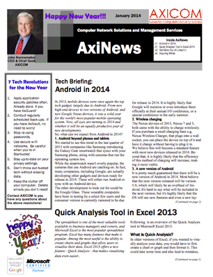Newsletter Archive January 2014