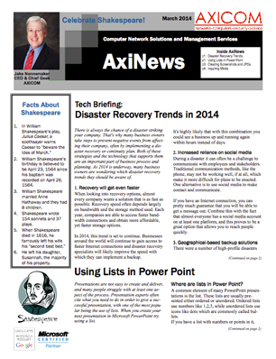 Newsletter Archive March 2014