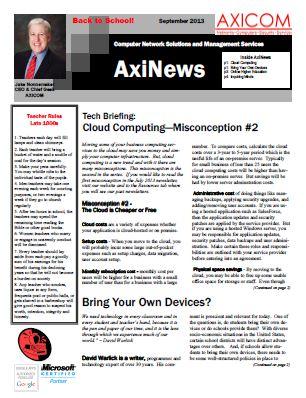 Newsletter Archive September 2013